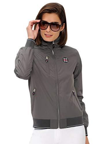 SPOOKS Damen Jacke, Kapuzenjacke, Damenjacke, Herbstjacke - Cleo Jacket Dark Grey S