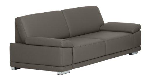 Cavadore 3,5-Sitzer Sofa Corianne in Kunstleder / Große Leder-Couch in hochwertigem Kunstleder und modernem Design / Mit Armteilfunktion / Größe: 248 x...