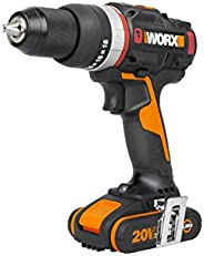 WORX 20V Brushless Active Impact Drill, 50Nm, color box, 2 * 2Ah, 1hr charger, injection box The only cordless