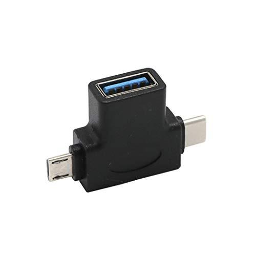 Micro USB Typ C OTG Adapter, Colorful USB-C Stecker Micro USB Stecker auf USB-A 3.0 Buchse Konverter für iPad Pro 11/12.9 Zoll 2018