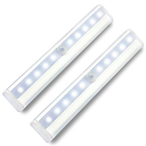 LED Nachtlicht mit Bewegungsmelder Batteriebetrieben Schrankbeleuchtung Licht,WZMIRAI Automatischer ON/OFF Energieeinsparung and Breite Palette von Anwendungen