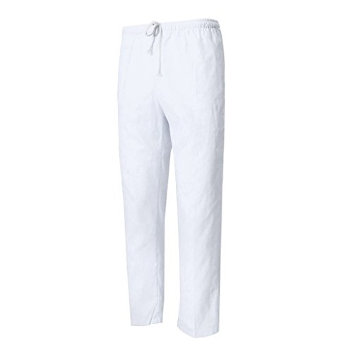 MagiDeal Küchenchef Uniform Restaurant Hosen Küche Arbeitshose Männer Hose aus Baumwollmischung