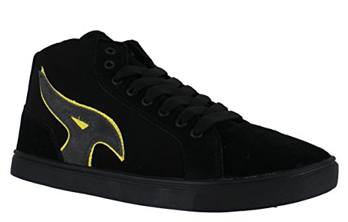 airwalk-mens-casual-skate-lace-up-padded-shoes-trainers-uk-11-atlantic-black-grey-yellow
