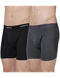 Levi's Men's 100% Cotton Long Trunks with Open Fly