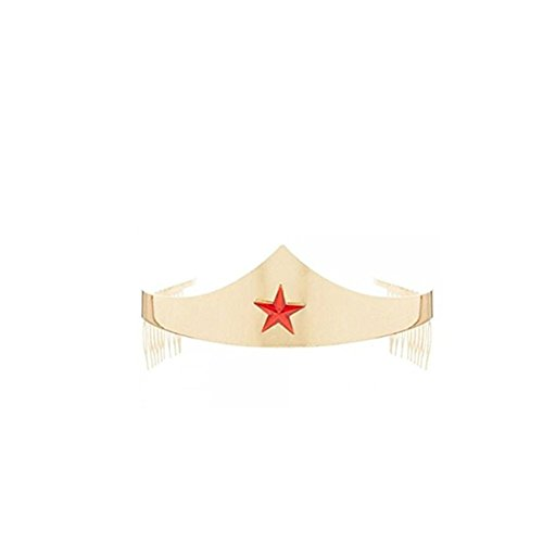 Ruby Kostüm Gem - MyPartyShirt DC Comics Wonder Woman Tiara with Gem Star