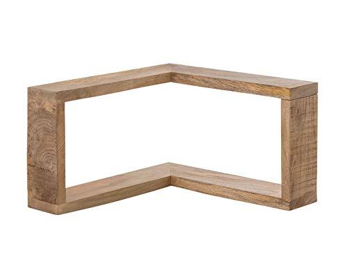 Woodkings® Regal Pune massiv Holz Natur rustikal Wandregal Badmöbel Wandekoration Eckregal