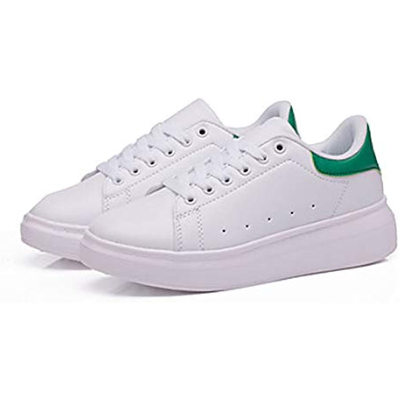 TTChaussureS pour Femme Chaussures PU Confort polyur eacute;thane Fall Confort PU des Chaussures Talon Plat Bout Rond Noir Blanc - B07GR7YM5X - 496716