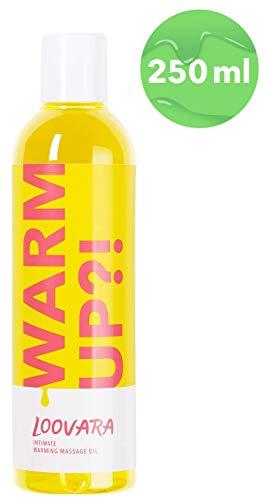 Loovara WarmUp! - erotisches Massageöl (250 ml) | wärmendes Liebes-Öl zur Erregung vor dem Sex | mit süßem Duft für Vorspiel und Partnermassage | natürliche Öle, dermatologisch getestet | Made in EU