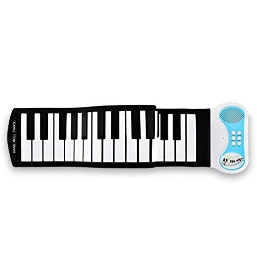 SZP 49-Llave portátil Rollo de Mano de Piano, Teclado Plegable con Altavoz de Teclado de Silicona Verde, niños Principiantes práctica Piano