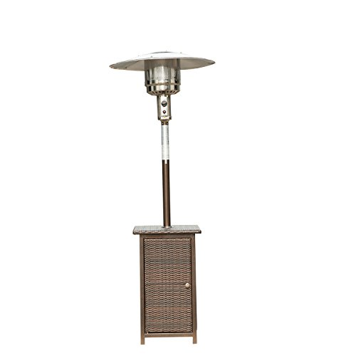 Homcom 12KW Patio Heater Free Standing Outdoor Garden Heating Rattan Furniture Wicker Table Top