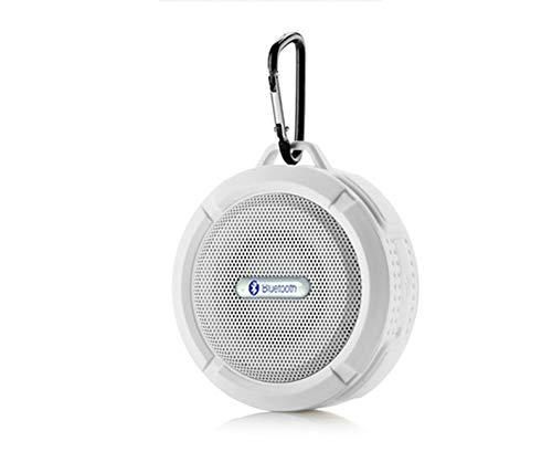 MIJIN Drahtlose Bluetooth 4.0 Stereo Portable Speaker eingebaute mic Schock-Resistance IPX6 Waterproof Speaker mit Bass,White (1000w Surround-sound-system)