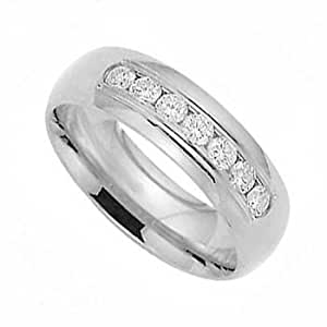 Man's 0.50Ct VS Diamond Channel Ring 18k Gold Band