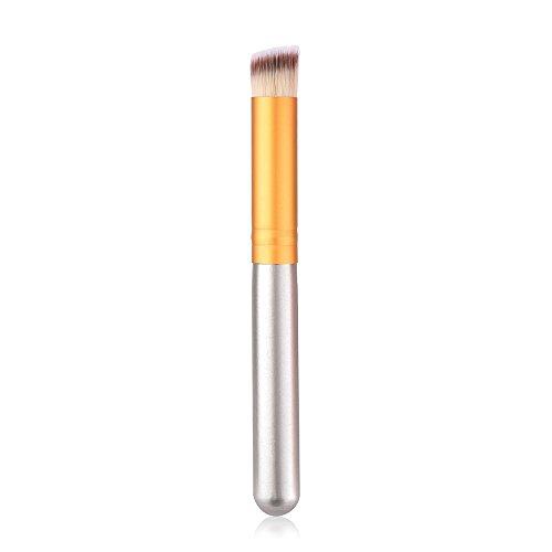 SynthéTique Fusion De Fond De Teint Concealer Eye Visage Liquide Poudre CrèMepoignéE en Bois Brosse Tampon SupéRieure Oblique SynthéTique pour Le Liquide pour Le Visage Concealer Cosmetics Brush