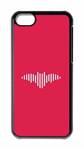 BBMMcase Personalize iPhone 5C Cases - Music Sound Wave bat Logo Hard Plastic Phone Cell Case for iPhone 5C (Bat 5c Phone Case)