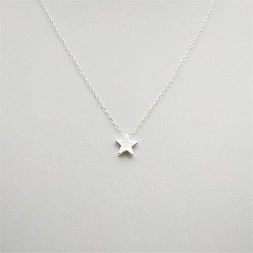 WEIHEEE Halskette mit einfachem Stern-Anhänger Minimalismus modische Halskette - Silber