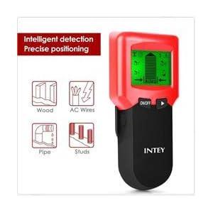 Detector de pared 3 en 1 de INTEY, multifuncional, escáner de pared, detector de cables con pantalla LCD, detector de cables para tubos de madera y metal, cable de alimentación AC