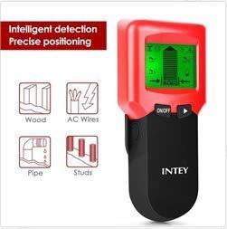 Detector de pared 3 en 1 de INTEY, multifuncional, escáner de pared, detector de cables con pantalla...