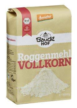 Bauckhof Bio Bauck Lichtkorn Roggenmehl Vollkorn (2 x 1 kg)