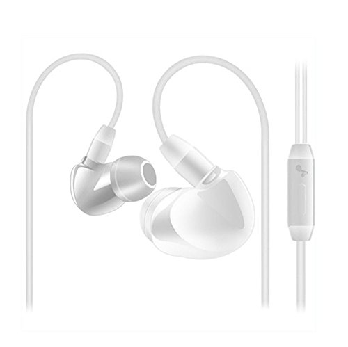 Headsets,Tonsee 3.5mm Super Bass Stereo In-Ear Ohrhörer Kopfhörer für iPhone Android,Weiß