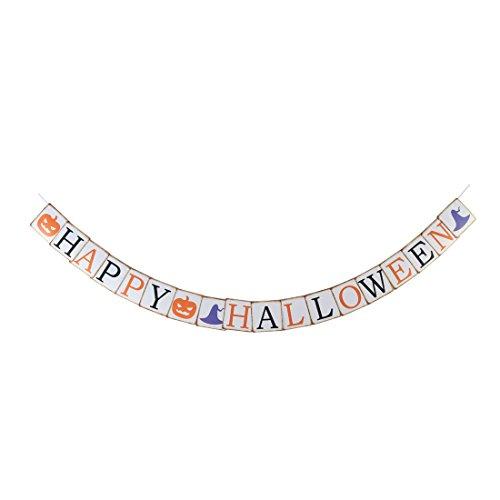 sourcingmap Papier Kürbis Buchstaben Druck hängend Halloween Dekor Foto Prop Banner - Kürbisse Halloween-dekor