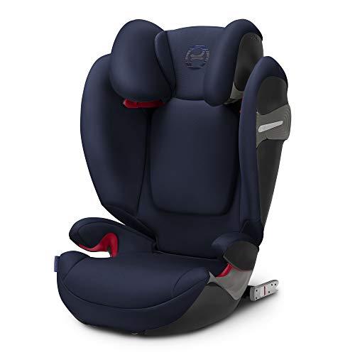 Cybex Gold Kinder-Autositz Solution S-Fix, Gruppe 2/3 (15-36 kg), ab ca. 3 bis ca. 12 Jahre, denim blue, für Autos mit und ohne Isofix