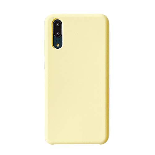 Hülle für Huawei P20/P20 Pro Schutzhülle Silikon Dünne HandyHülle Stoßfest Dünn Flexibel Premium Schutz Schale mit Soft Microfaser Tuch Futter Bumper für Huawei P20 lite Cover (Gelb, P20 pro) Touch Pro Silikon