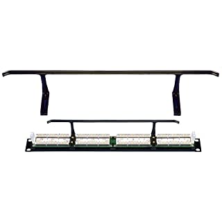Allen Tel Products AT55CSB Cable Support Bar, Mounts On Rear of AT55 Series Category 5e Patch Panels