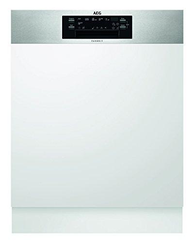 AEG FEE62600PM Geschirrspüler (teilintegriert) / A++ /extra leise Einbauspülmaschine mit Glas-Schutz / sparsame Spülmaschine mit Satelliten-Sprüharm / weiß und silber