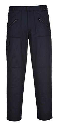Portwest S887 Work Action - Pantaloni da lavoro con ginocchiere e tasche, taglio regolare, gamba 79 cm, colore: Blu navy
