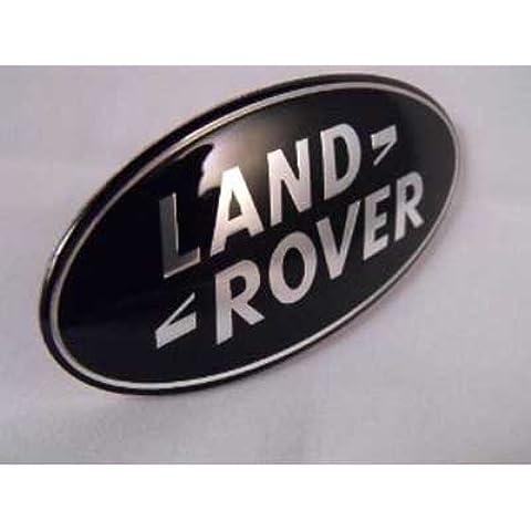 LAND ROVER Nero & argento logo per griglia anteriore Dimensioni: