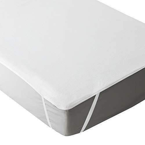 Bedsure coprimaterasso culla impermeabile - coprimaterasso traspirante ipoallergenico - superficie in soffice corallo ultra morbido - fascia elastica bianco 70x140cm