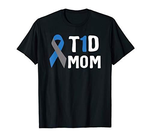 T1D Mom Diabetes Awareness Type 1 Insulin Pancreas T-Shirt
