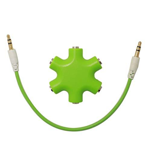 Beaums Schnee-Form-Kopfhörer-Teiler-Multi-Kopfhörer-Naben-Adapter 3,5-mm-Audiokabel Divider Musik zu teilen