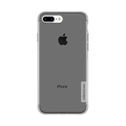 Cellphone protector, NILLKIN caso Natura TPU per iPhone 7 Plus 0,6 millimetri elegante ultrasottile Clear Color molle protettiva copertura posteriore di caso ( Color : Brown ) Grey