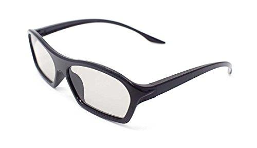 4 Paare der schwarzen Erwachsene Passive 3D-Brille in Phillips Easy 3D Style für alle passiven TV Kino und Projektoren wie RealD Toshiba LG Panasonic und vieles mehr