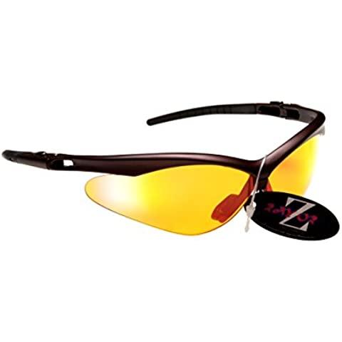 RayZor Pro Liteweight UV400 Brown Sports Wrap Running Sunglasses, with a Clea...