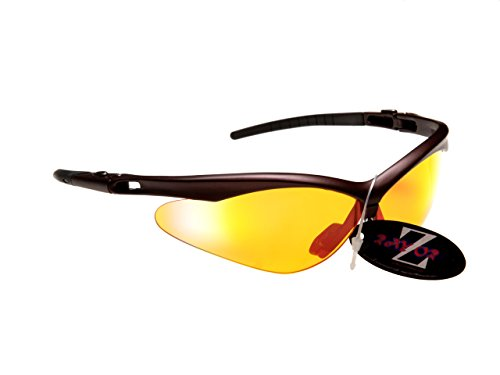 RayZor Pro Liteweight UV400 Brown Sports Wrap Hiking Sunglasses, with a Clear.