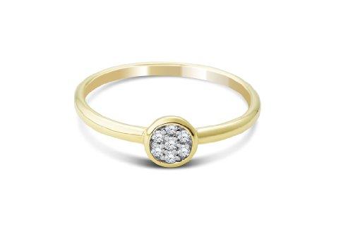 Miore Damen-Ring mit Brillanten 9 Karat 375 Gelbgold MG9140R - 2