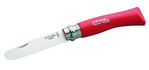 Opinel Kinder Kindermesser, rot, 10cm Taschenmesser, One Size