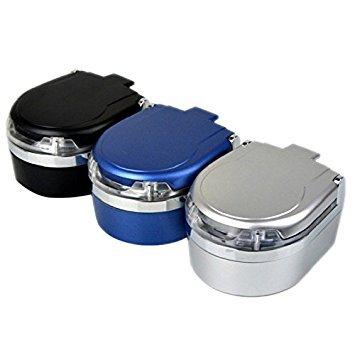 SODIAL(R) Portable in Auto Fahrzeug Zigarette Rauch LED Licht Aschenbecher Asche Halter Eimer Cup (Auto Rauch)