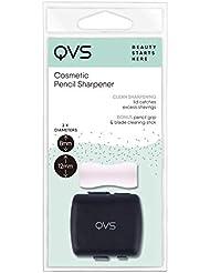 QVS Kosmetik Anspitzer Doppelspitzer zwei Größen Lippen Kayal Augenbrauen Stift Auffangbehälter