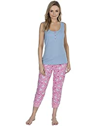 0ebde35f8d Forever Dreaming Ladies Jersey T-Shirt Shorts Summer Pyjamas Set 100% Cotton  Novelty Motif