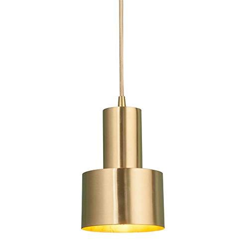 MIFIRE Modern/Vintage Hängeleuchte Goldene Pendelleuchte E27 Edison Lampenfassung Höhenverstellbar Deckenleuchte für Küche Esszimmer Bar Loft Decor -