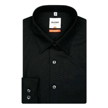 Hemd Schwarz Bekleidung (Olymp Herren Langarmhemd - Luxor Modern Fit, Gr.44, Farbe 99 schwarz)