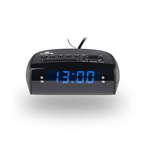 NGS Sunrise Hit- Reloj Despertador con Alarma y Radio FM/Am función Snooze, Alarma Dual, Pantalla 0.6...