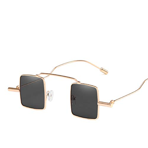 Wenkang Vintage Small Sunglasses Women Eyewear Metal Frame Square Glasses Ladies Metal Sun Glasses for Female Uv400,1