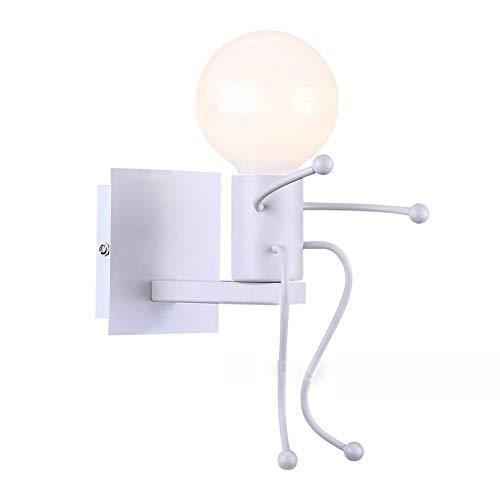 FTZHL Iron Man, tête blanche simple Lampe Murale,Lampe de Mur,Applique Luminaire En,Applique Murale Applique Style moderne Éclairage Chambre à coucher