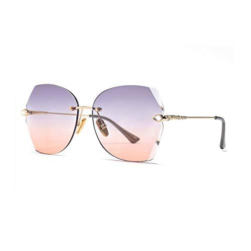JOLLY Runde verspiegelte Sonnenbrille Frauen Metall Vintage Shades Mode Retro Eyewear (Farbe : Chrom)