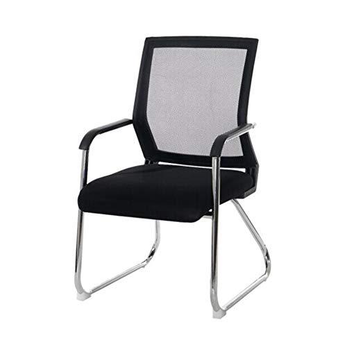 Hocker XUERUI Lehnstühle Stühle Stuhl Mittel Mesh Zurück Atmungsaktiv Schaum Polster Robust Stehlen Base Konferenz Schwarz Möbel -