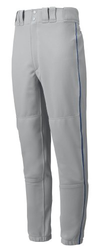 Mizuno Jungen 350149.9151.06.l Youth PREMIER Paspel Hose L, grau/marineblau, groß (Jungen Baseball Uniformen)